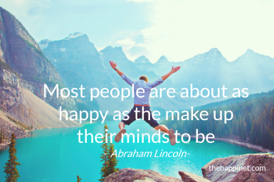 Abraham Lincoln - happy as mind