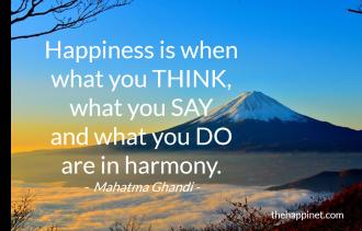 Ghandi - Harmony think say do